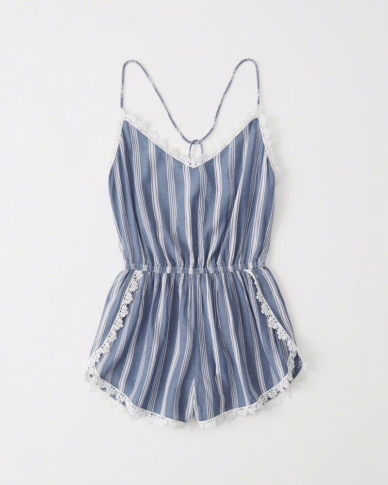 ddae6acb900 Abercrombie and Fitch Striped Romper Cover Up