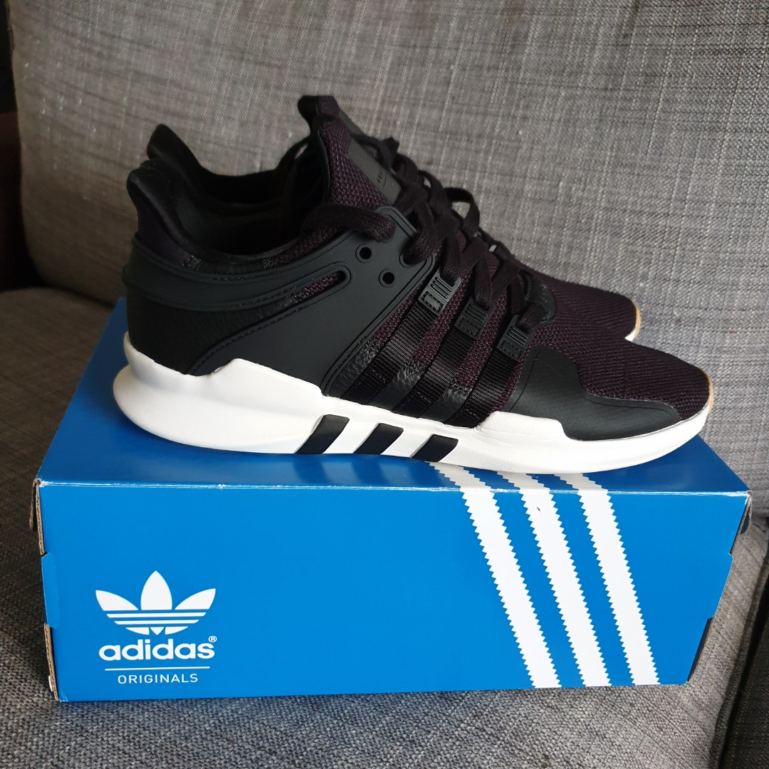 release date fb35c 2e0b0 ADIDAS EQT SUPPORT ADV BLACK - FREE DELIVERY TILL THIS FRIDAY 7 DEC! BLACK  TRAINING SHOES