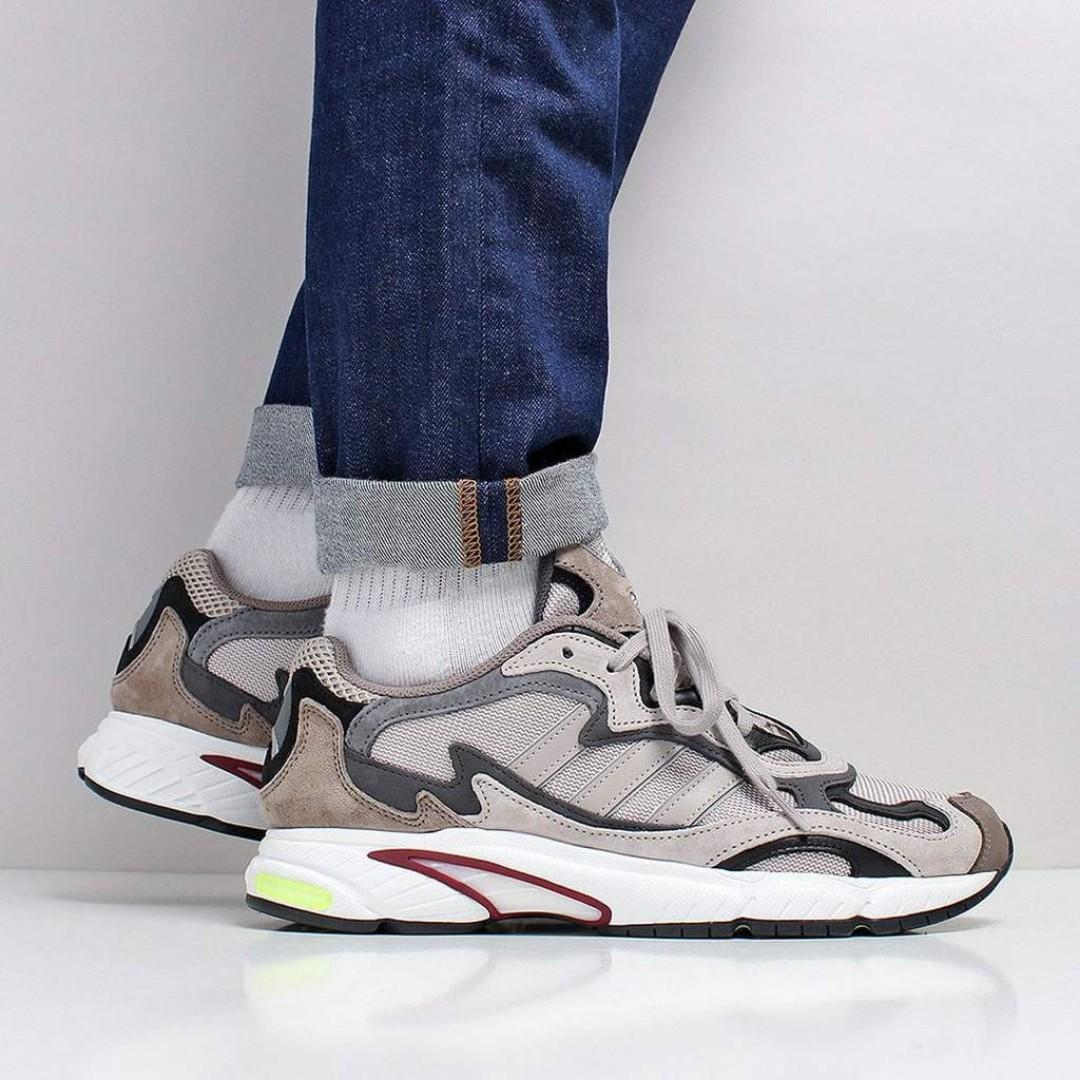 352f841ef8e Adidas Originals Temper Run Shoes – Light Brown Grey Six Core Black ...