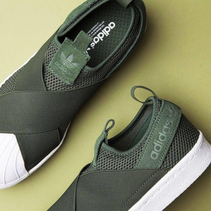 3128ea50658cc8 Adidas Superstar Slip On Khaki Green  Next30