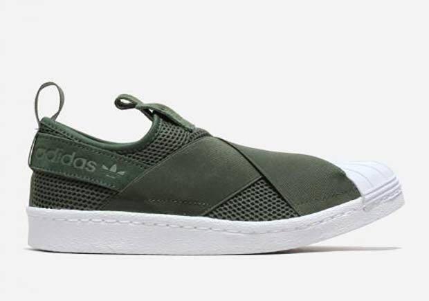 Adidas Superstar Slip On Khaki Green