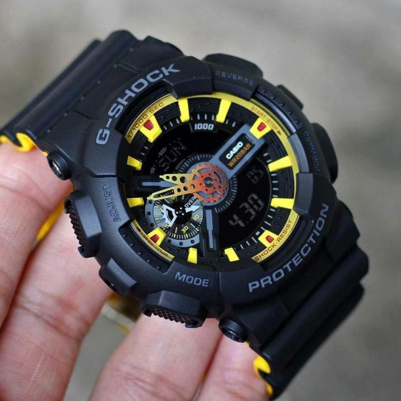 66755af2993 Authentic Brand New Casio G-Shock GA-110BY-1A Striking Colors Yellow ...