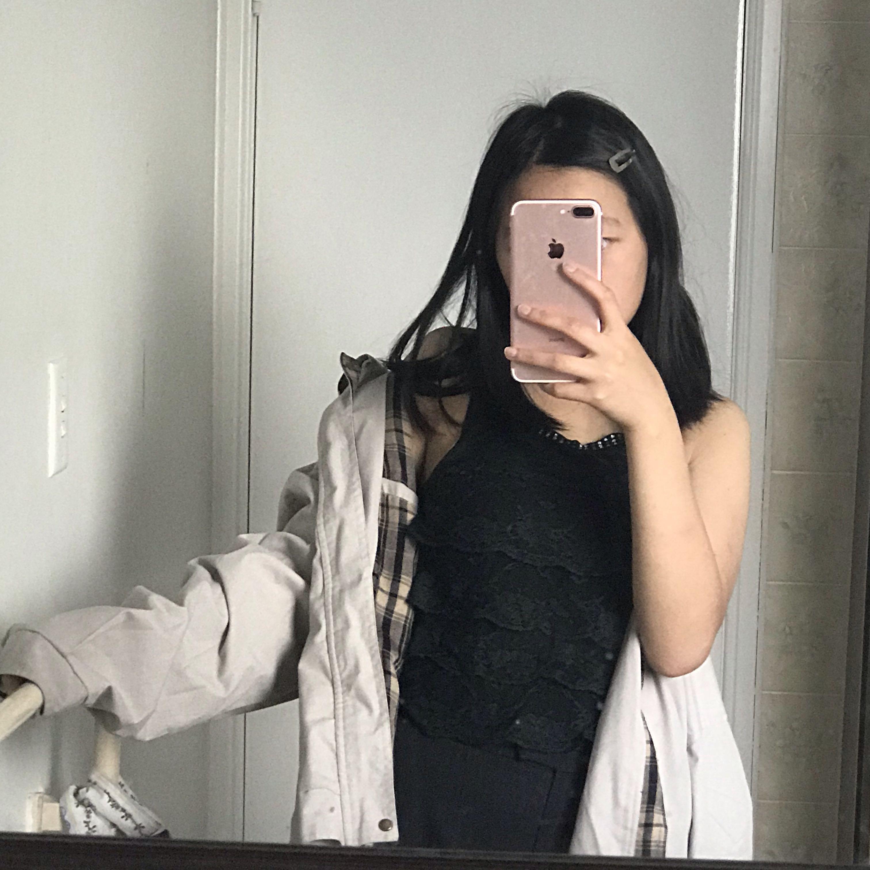 Black Sleeveless Top - Lace