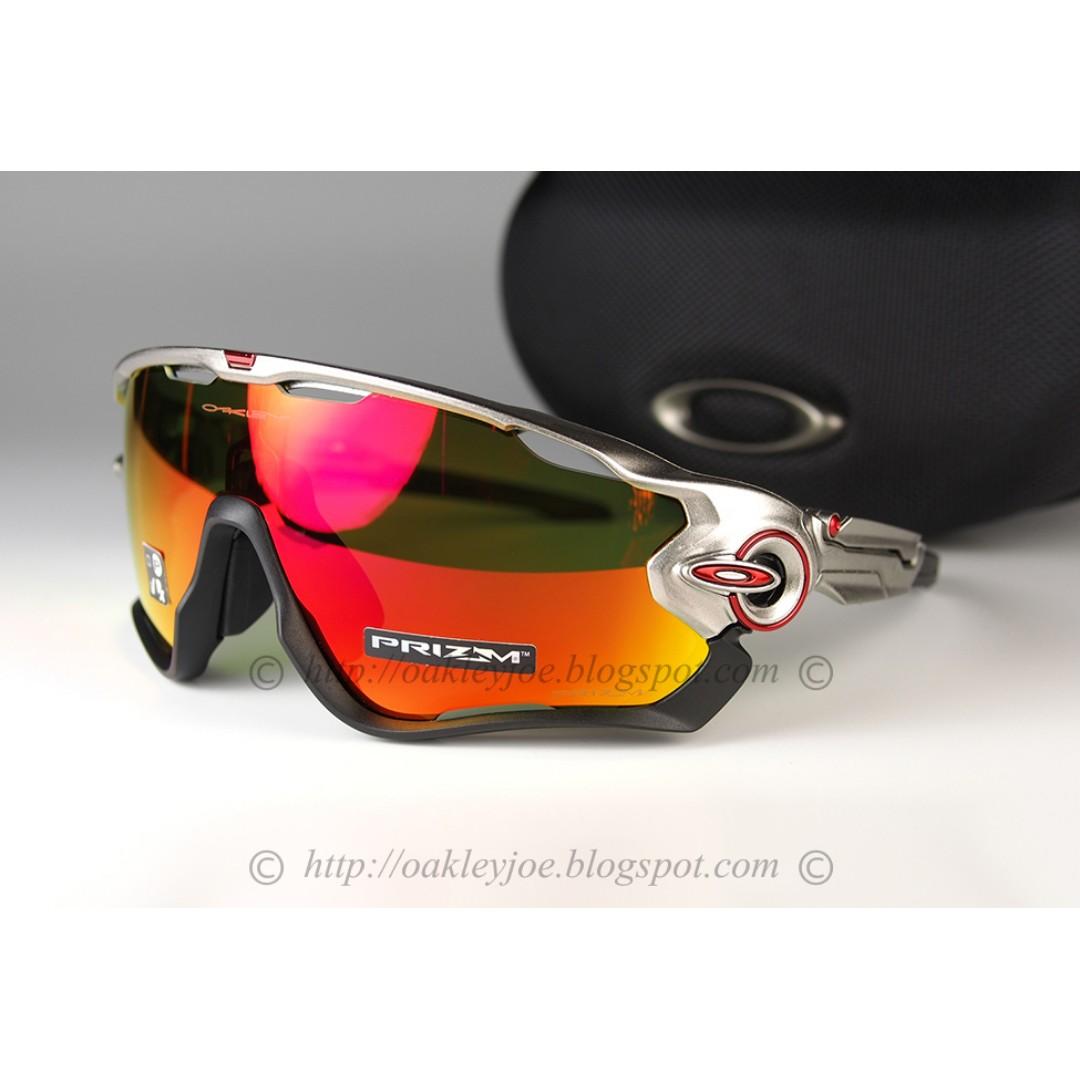 03e155e7d0 BNIB Oakley Custom Jawbreaker metallic champagne + prizm ruby iridium  sunglass shades
