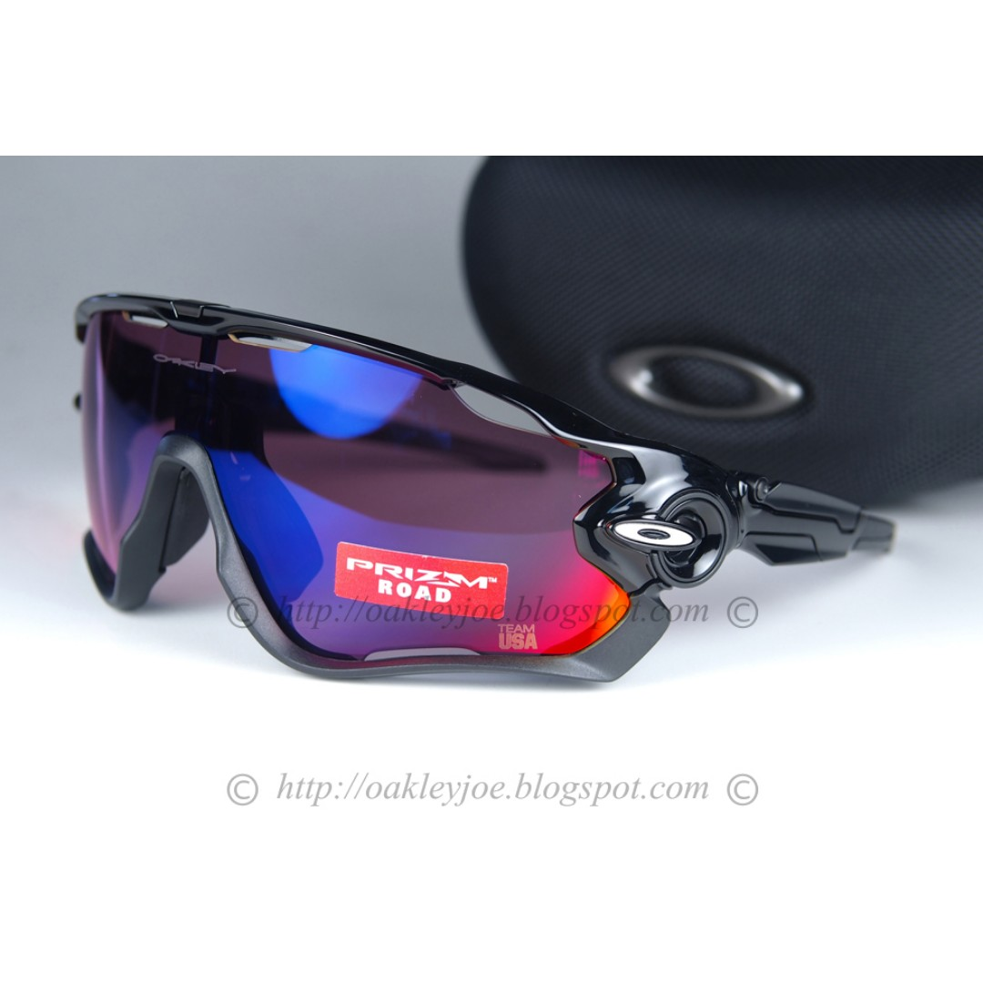 9cfe4e71fd BNIB Oakley Custom Jawbreaker polished black + road prizm sunglass ...