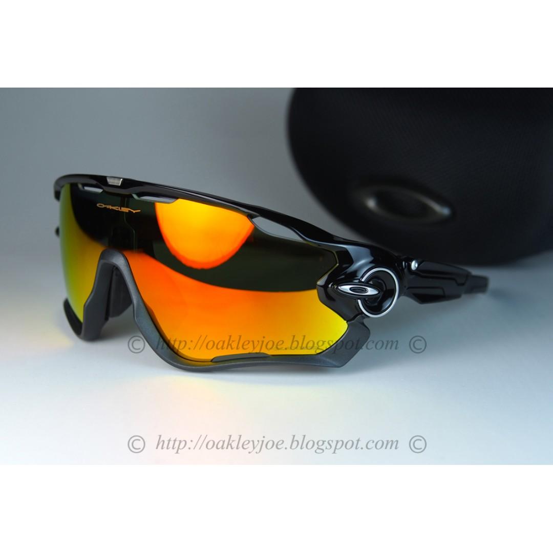 cbe2a6784f BNIB Oakley Custom Jawbreaker polished black + ruby iridium lens ...