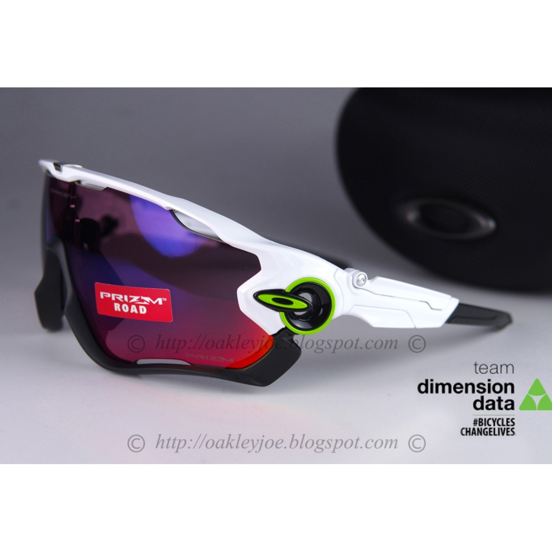 8af5f31c81 BNIB Oakley Custom Jawbreaker TDF Team Data Dimension polished white + road  prizm iridium sunglass shades
