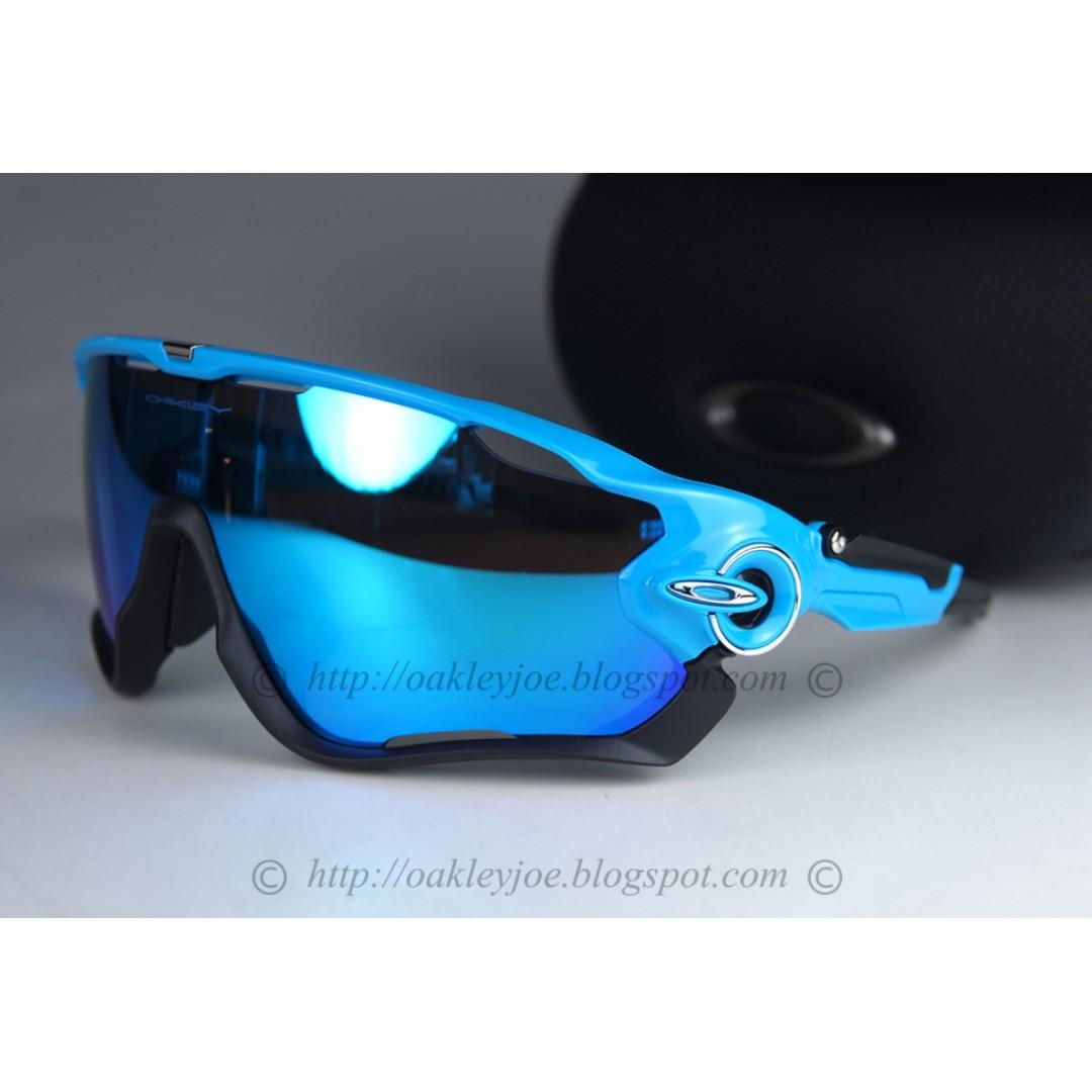 edbf78ee96 BNIB Oakley Custom Jawbreaker team sky blue + sapphire iridium sunglass  shades