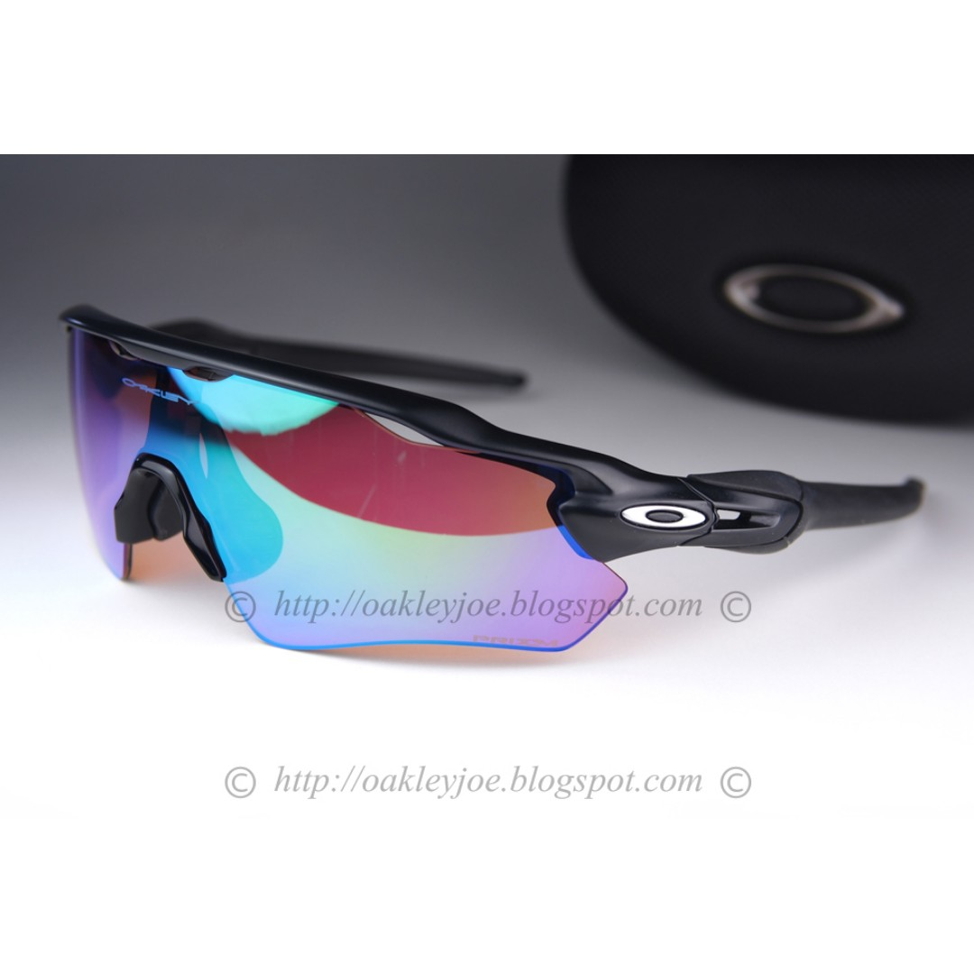 fdc0b77a45569 BNIB Oakley Custom Radar EV Asian Fit matte black + golf prizm sunglass  shades