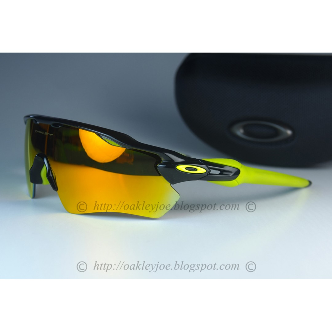 650a8c3f8b BNIB Oakley Custom Radar EV Path Asian Fit black ink + fire iridium ...