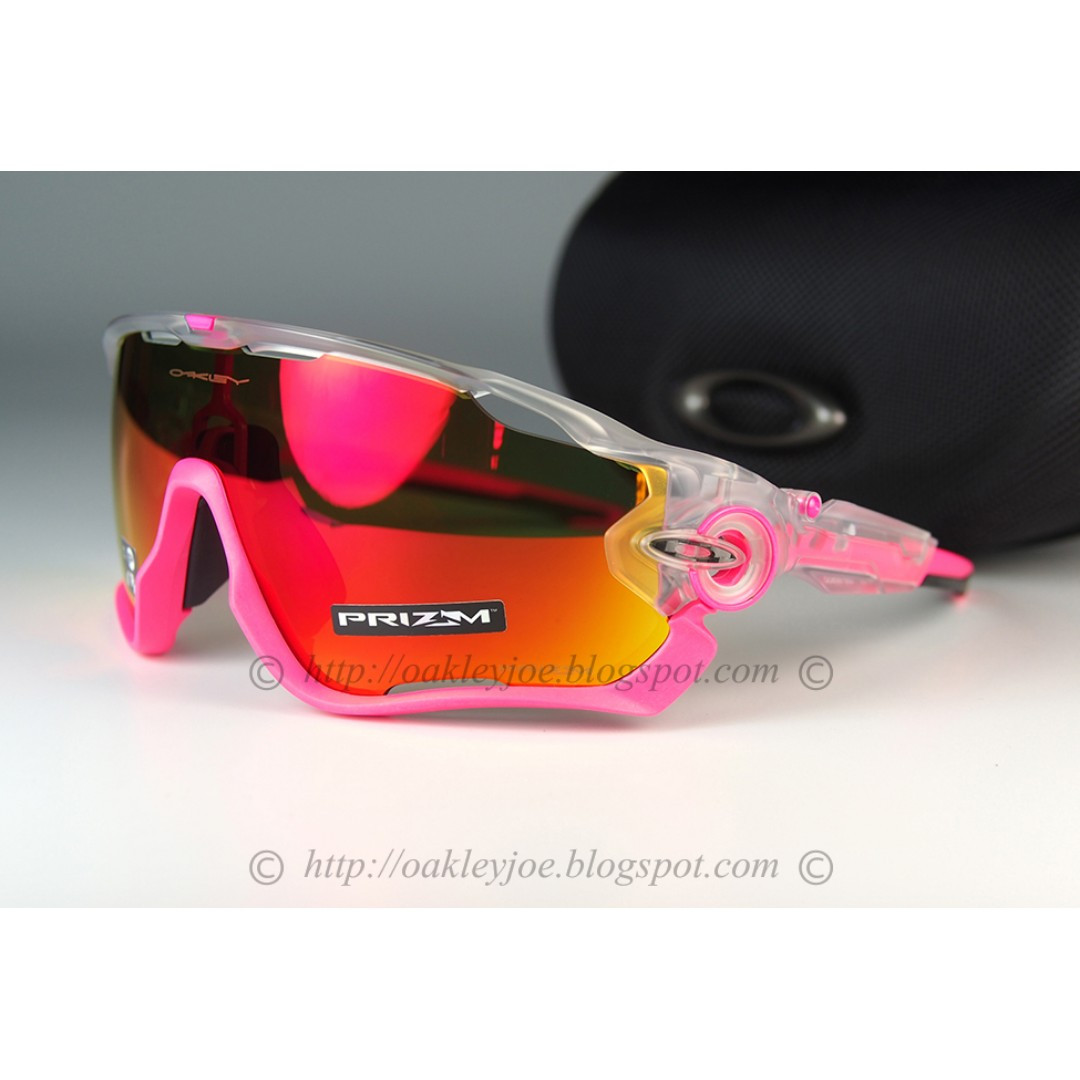 ac1481ee58 BNIB Oakley Jawbreaker crystal pop + prizm ruby iridium oo9290-3931  sunglass shades