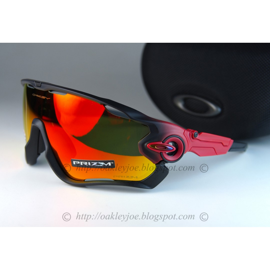 5f11ad1ed5 BNIB Oakley Jawbreaker Fade Collection prizm polished ruby + prizm ...