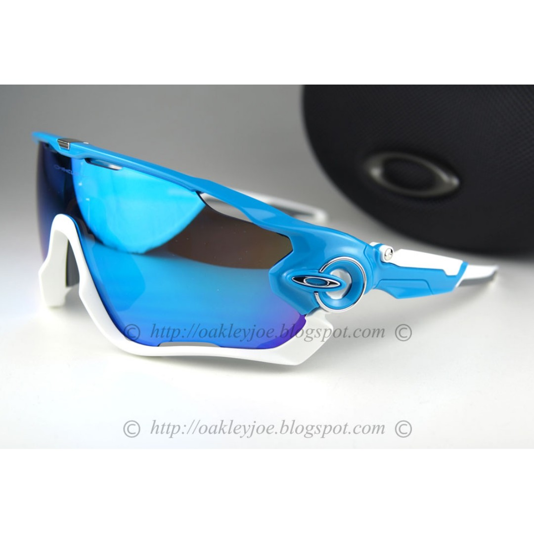 99b1643128 BNIB Oakley Jawbreaker sky + sapphire iridium OO9290-02 sunglass shades