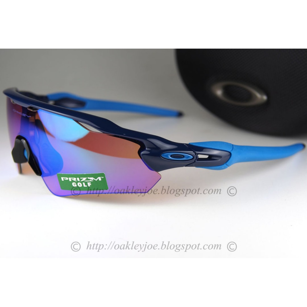 fc15dba3acc1 BNIB Oakley Radar EV Asian Fit navy + prizm golf OO9275-05 sunglass ...
