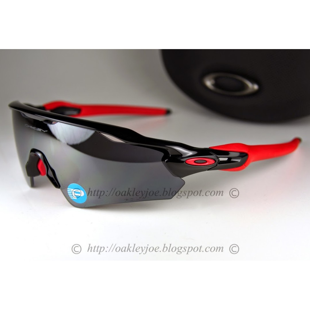 1b8148d793f BNIB Oakley Radar EV Path Asian Fit polished black + black iridium ...