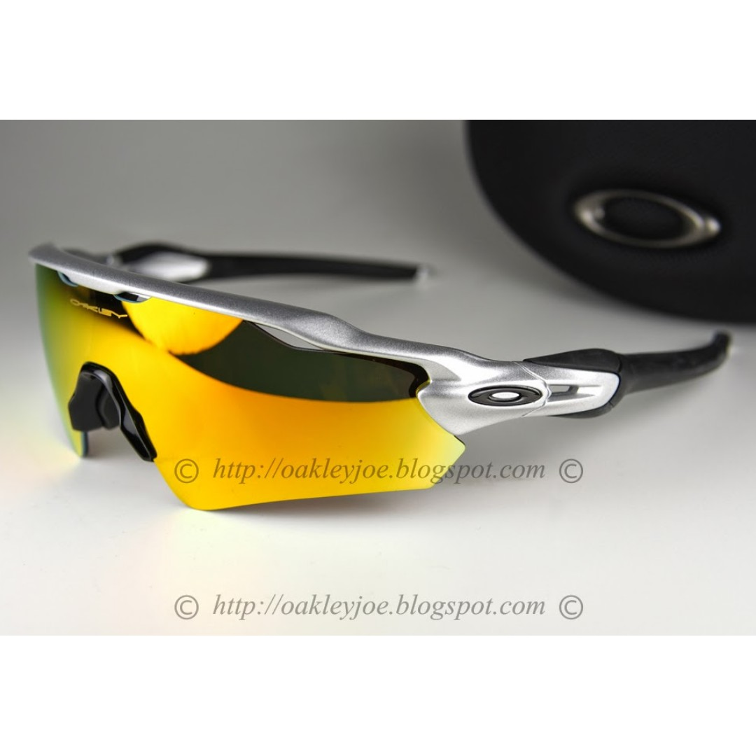 119a2441045 BNIB Oakley Radar EV Path Asian Fit silver + fire iridium oo9275-02 ...