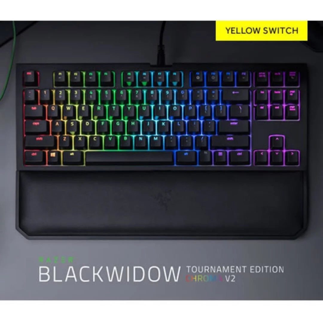 3dde42044e8 BNIB Razer BlackWidow Tournament Edition Chroma V2 Mechanical ...