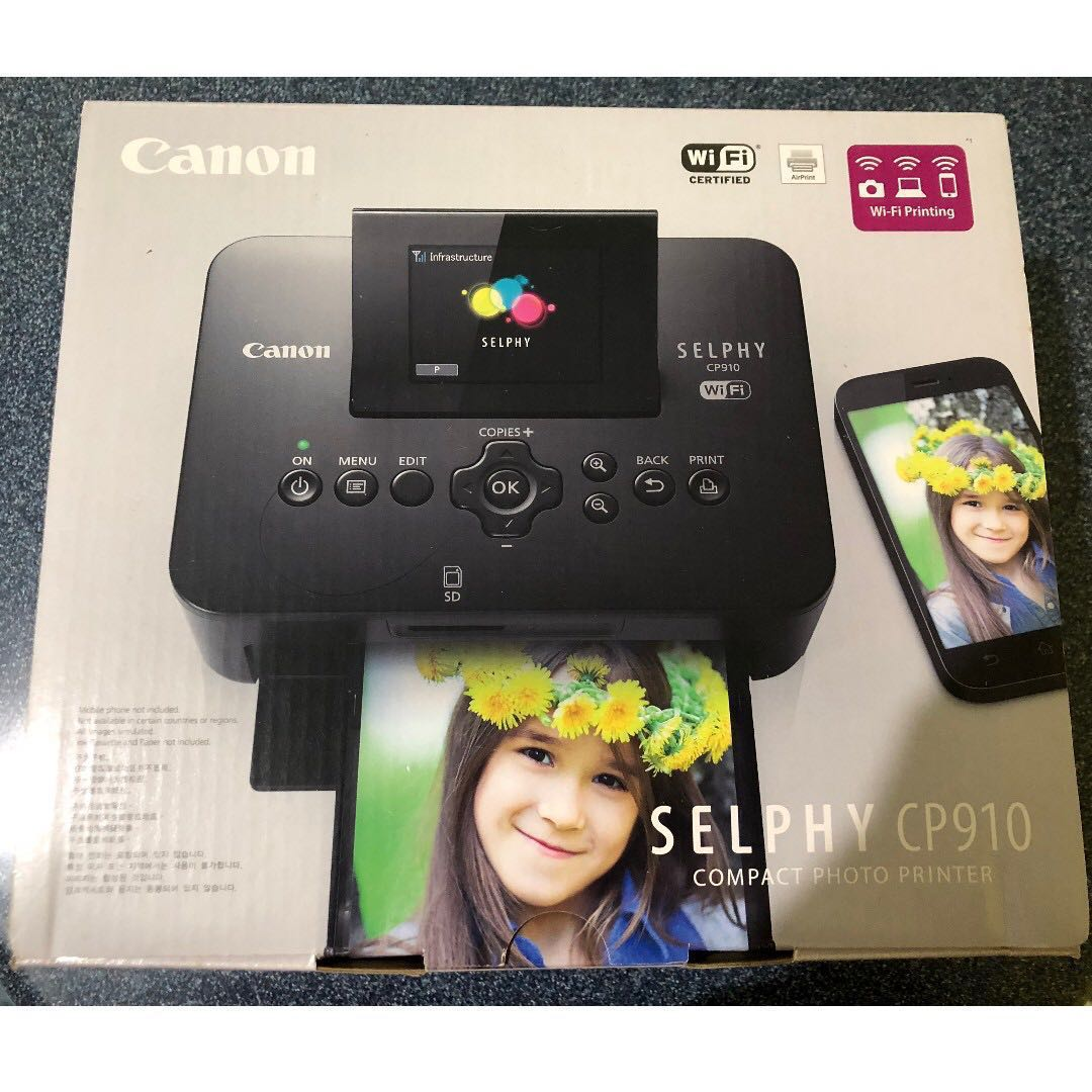 Brand New Canon Selphy Cp910 Portable Wireless Compact Color Photo