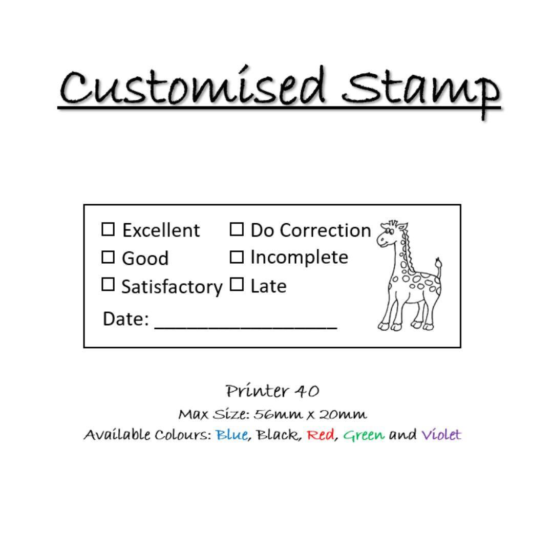 Customisable Stamp For Teachers And Students Self Ink