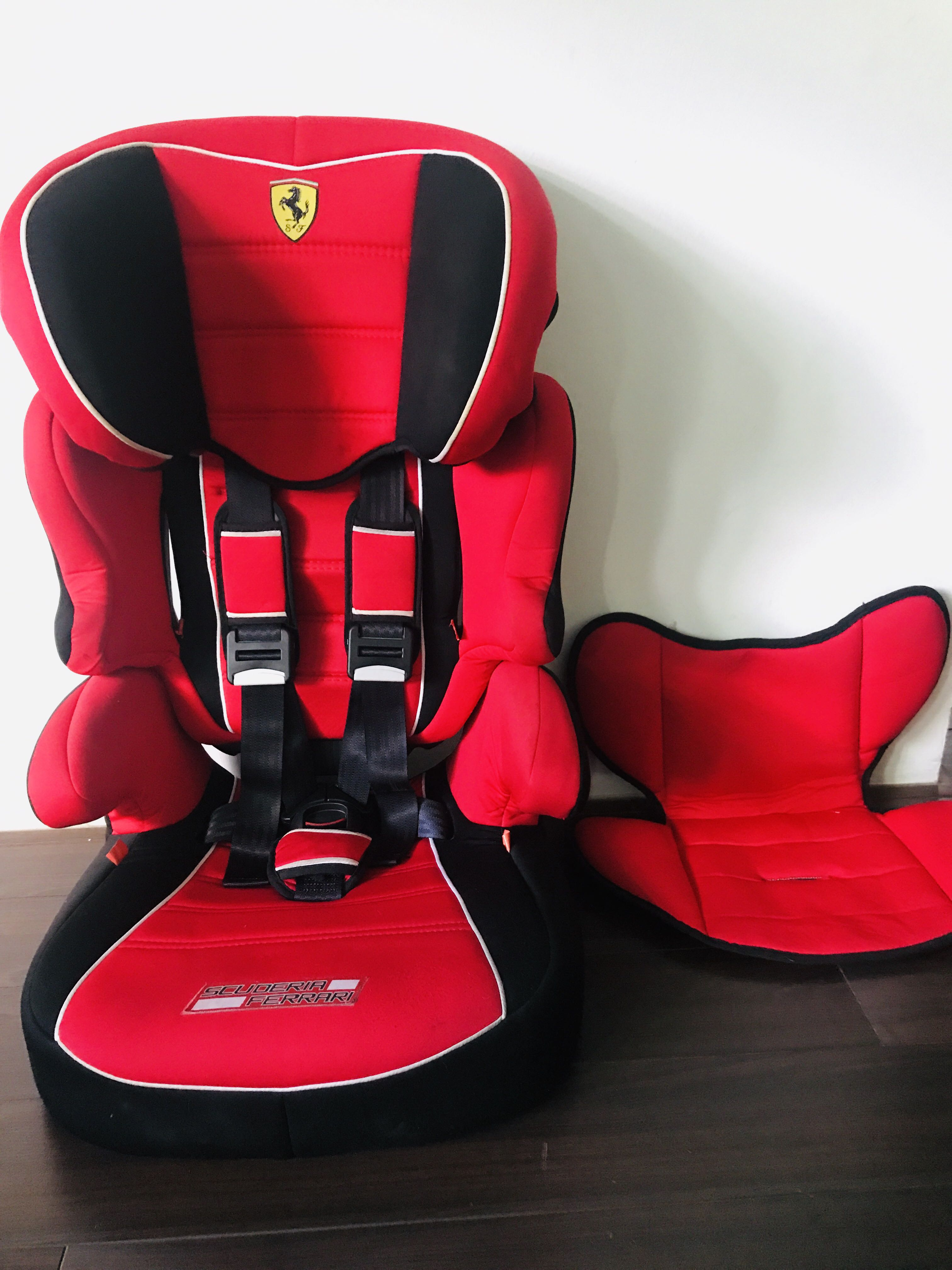Ferrari Baby Child Car Seat And Booster Seat 2 In 1 Babies Kids Strollers Bags Carriers On Carousell