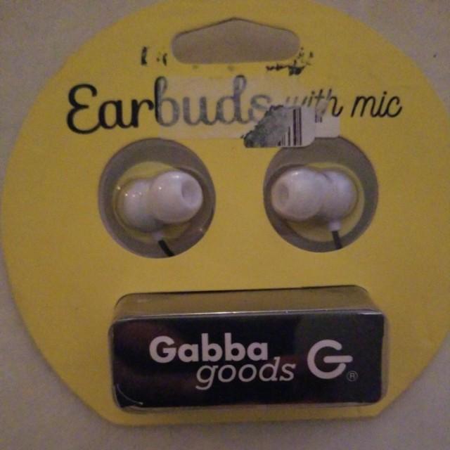 GABBA GOODS EARBUDS W/ MIC
