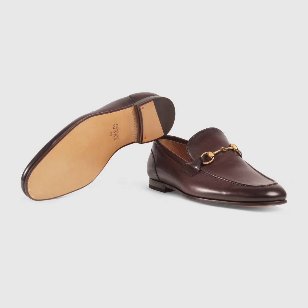 2009e3717a9 Gucci Jordaan leather loafer