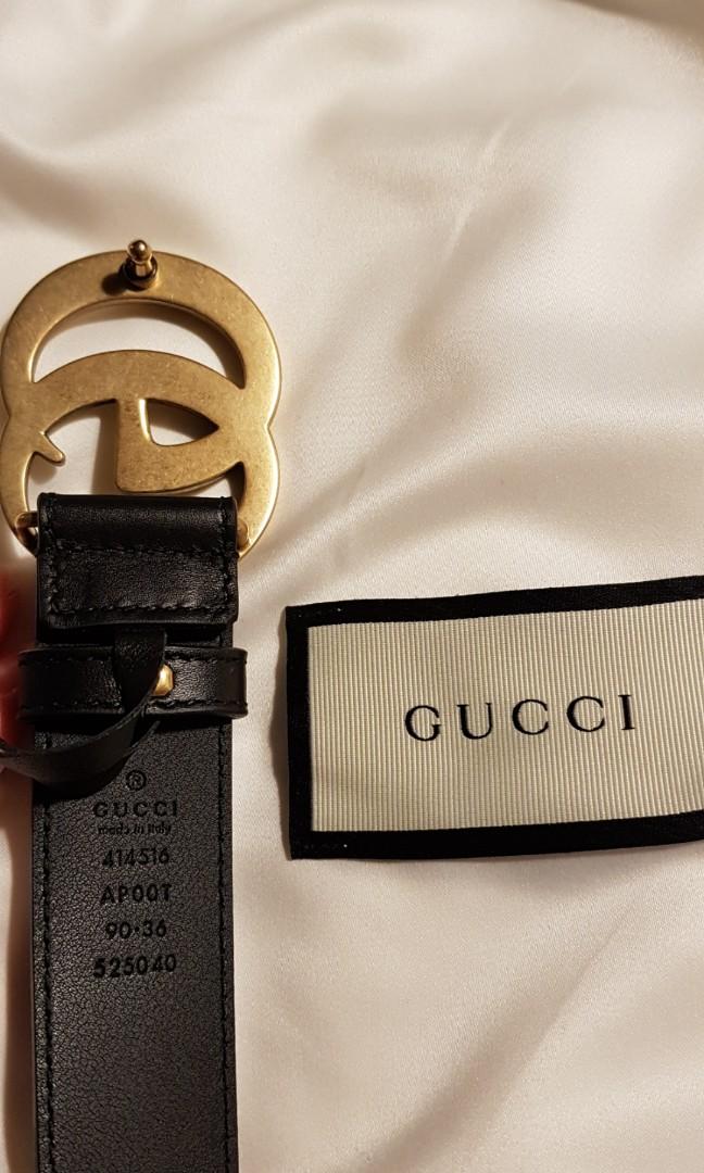 124c4b10861 Gucci Leather Belt Double G size 90-36