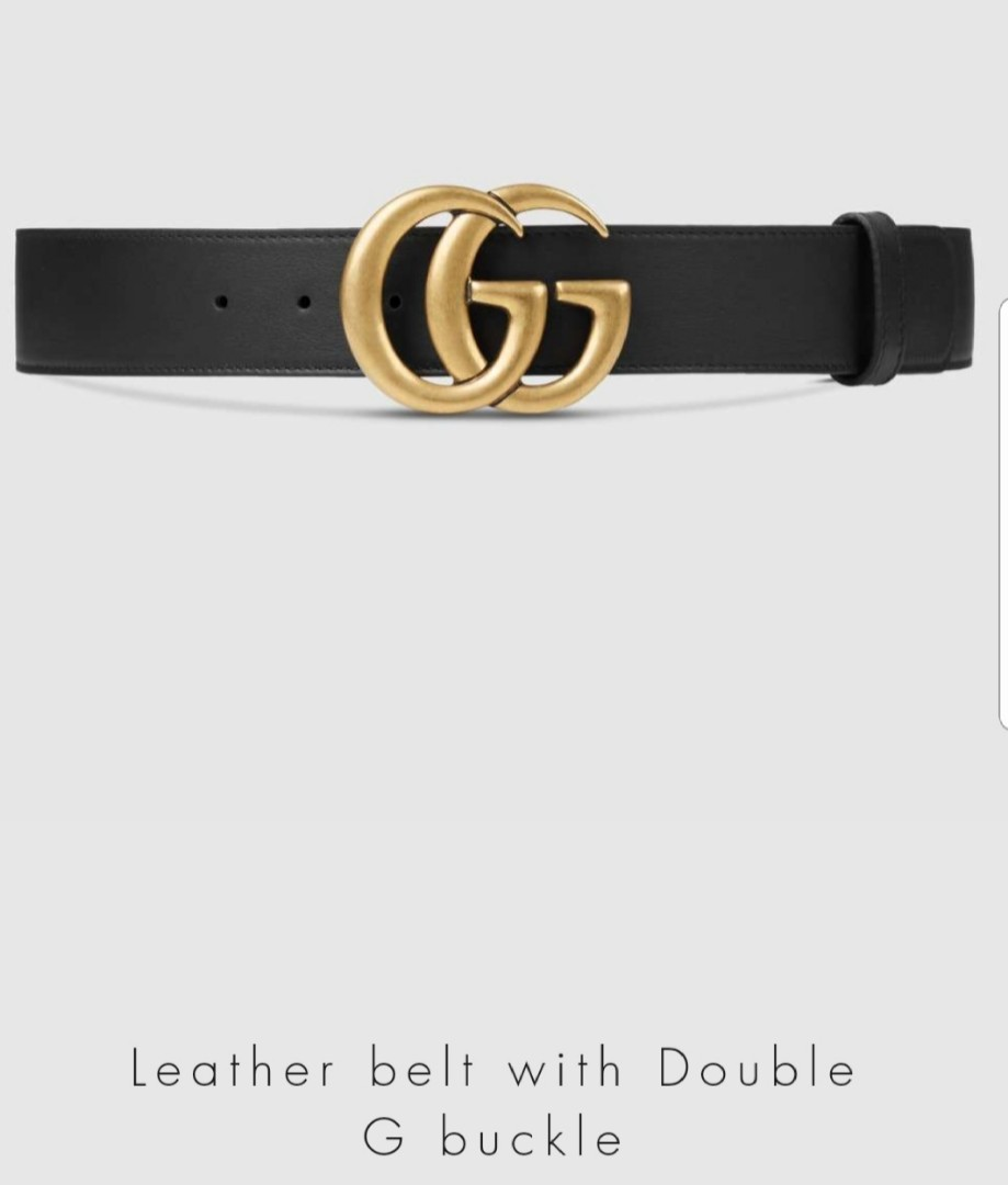 f7a71f30f16b Gucci Leather Belt Double G size 90-36, Women's Fashion, Accessories, Belts  on Carousell