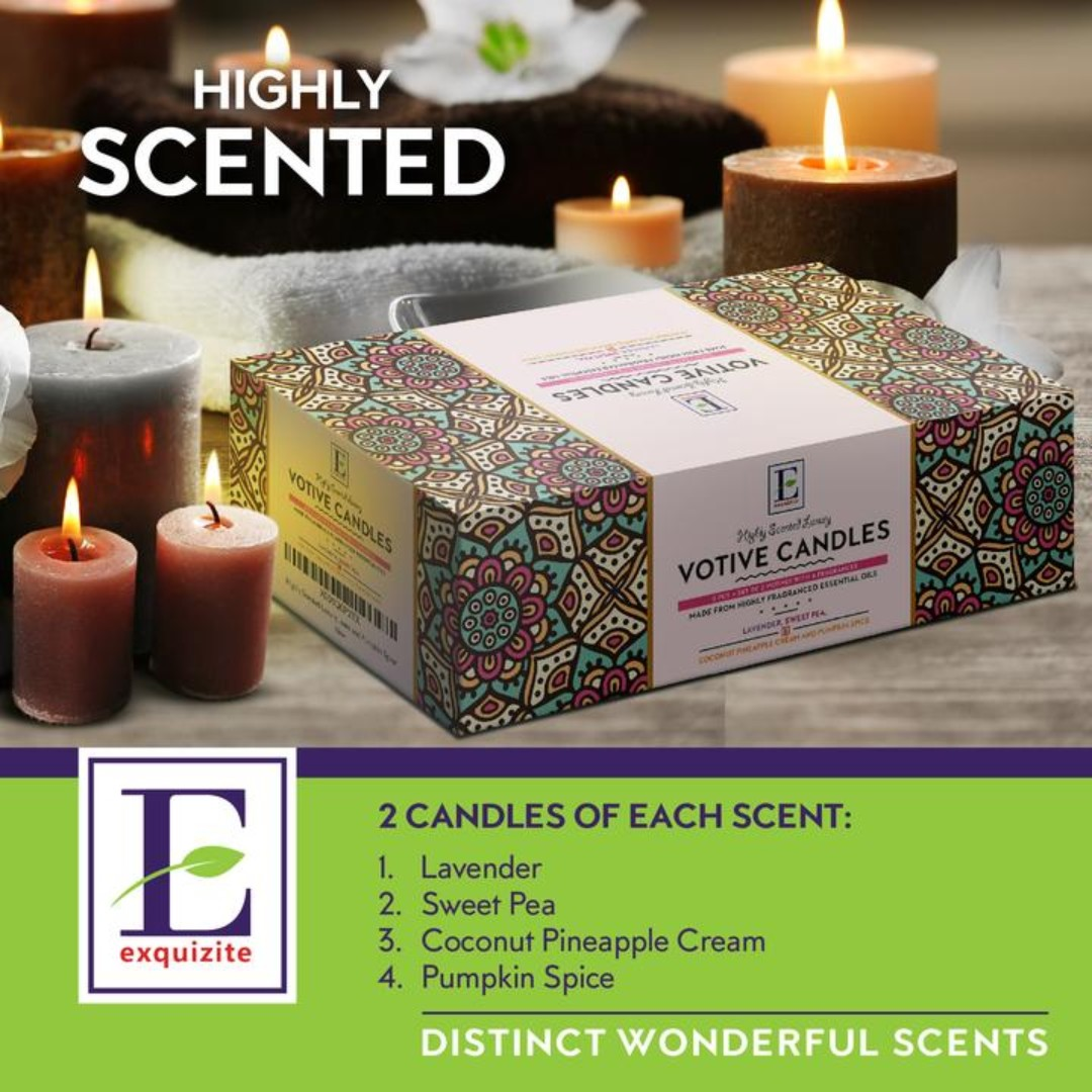 Highly scented long burning luxury votive candles 8 pcs furniture home decor others on carousell