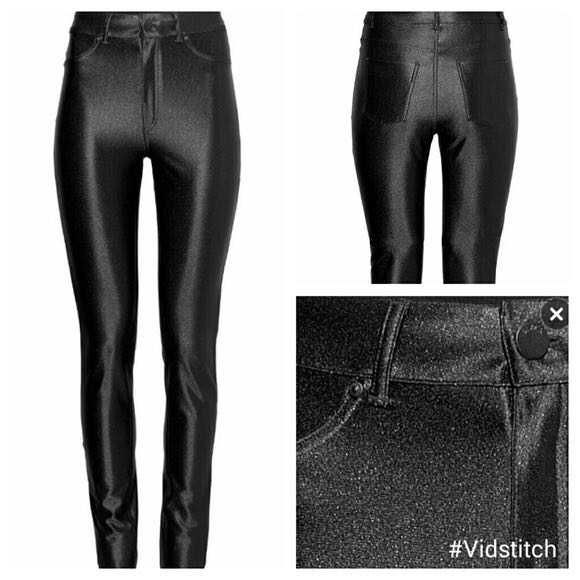 7422025e43008 H&M Black Disco Pants, Women's Fashion, Clothes, Pants, Jeans ...
