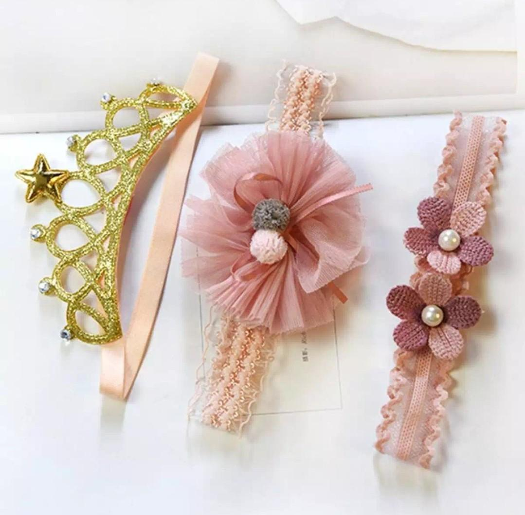 Lovely Baby Girls Rose Flower Crown Headband Birthday Party Hair Accessories