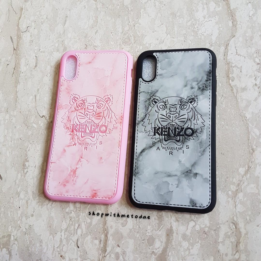 1a215a2f26 INSTOCK Kenzo Pink Leather Iphone XS / Iphone X casing, Mobile ...