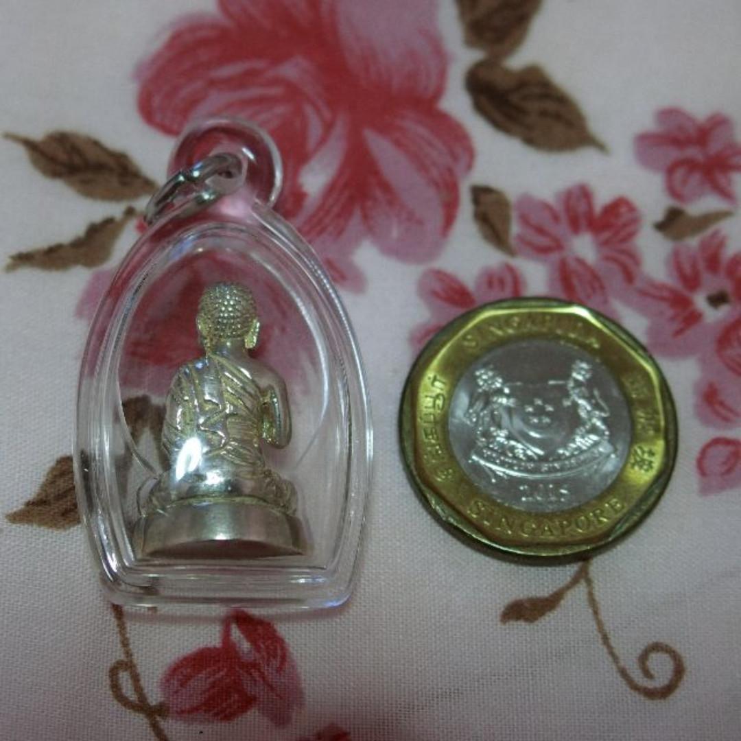 Kruba Boon Chum Silver Phra Upakut Amulet 2540 (First Batch)