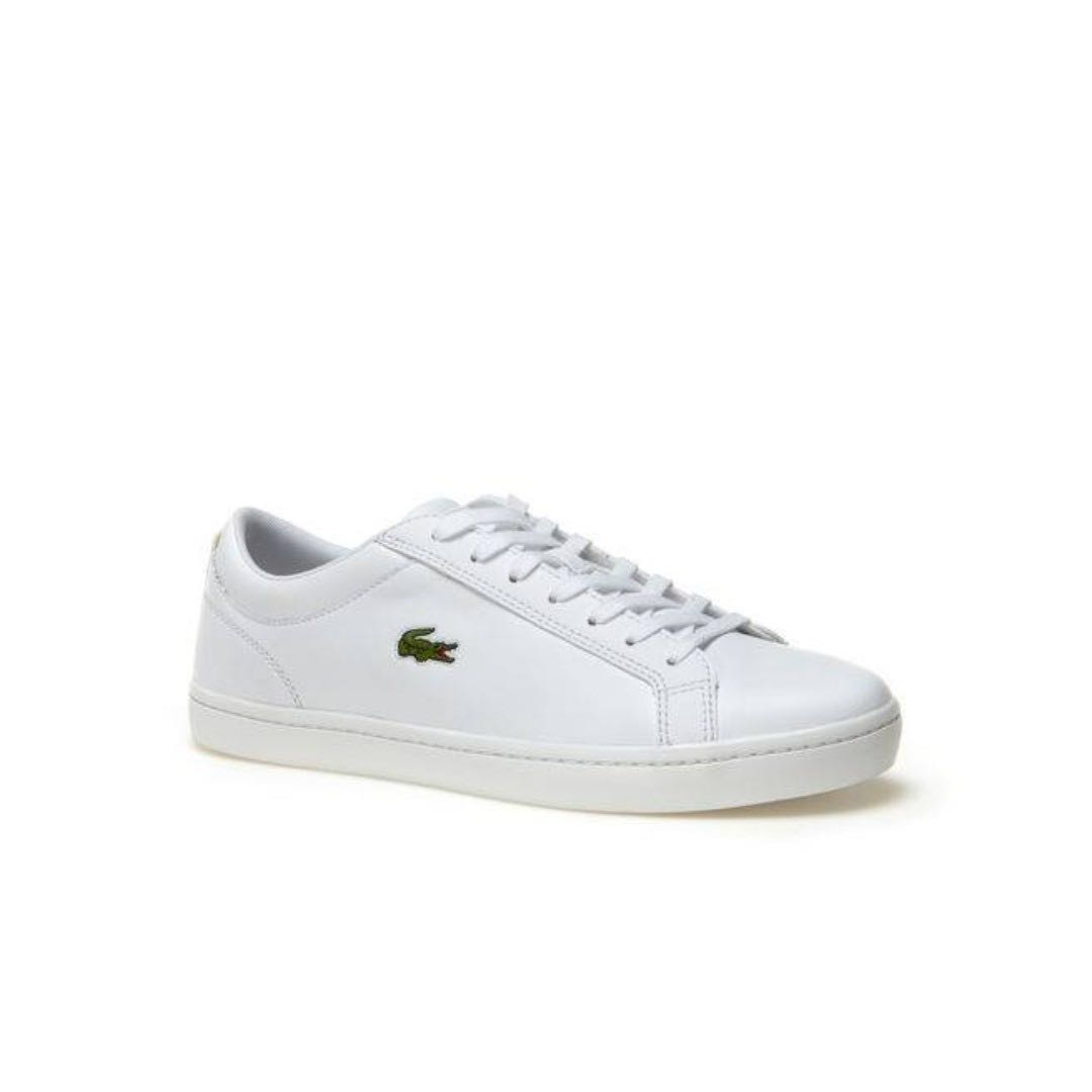 1525f5944 LACOSTE MEN S STRAIGHTSET LEATHER TRAINERS