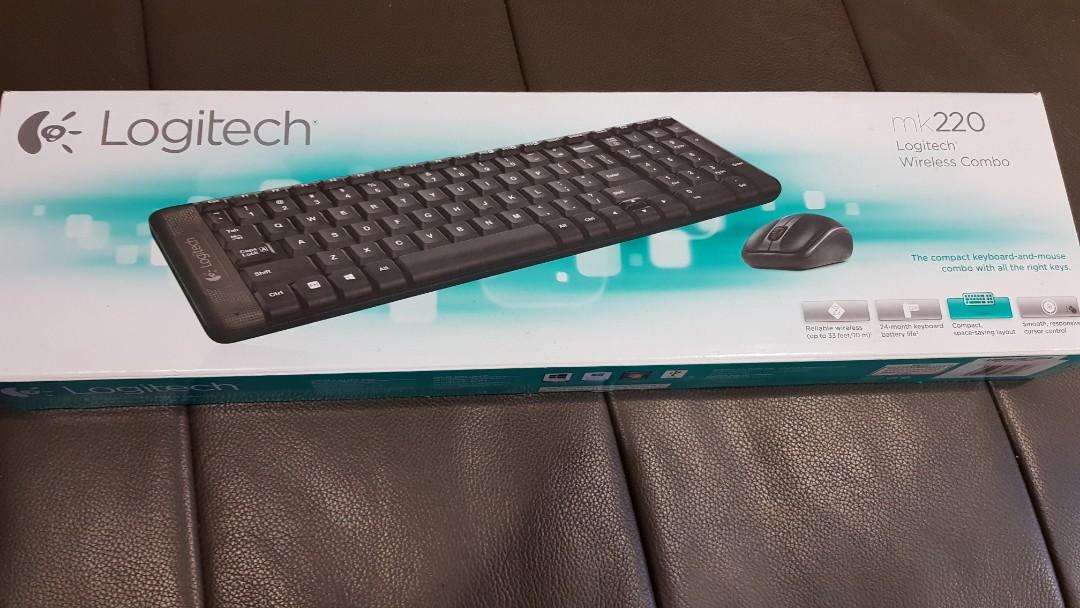 625b6f2f963 Logitech Wireless Keyboard And Mouse MK220, Electronics, Computer ...