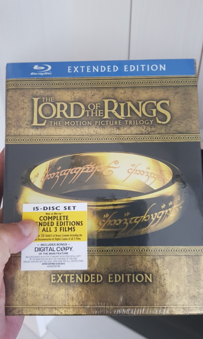 Lord of the Rings - Extended Bluray Trilogy set