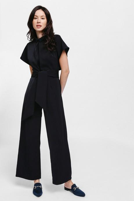 Love Bonito Jykho Layered Sash Jumpsuit  (black in size m)