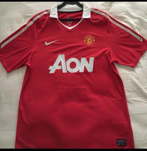 brand new 7c4c1 a92dd Manchester United Home Jersey 2010-2011, Sports, Sports ...