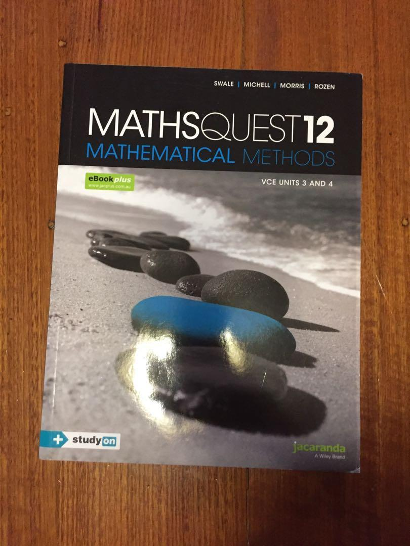 Maths Quest 12 Methods Units 3&4 *PERFECT CONDITION*