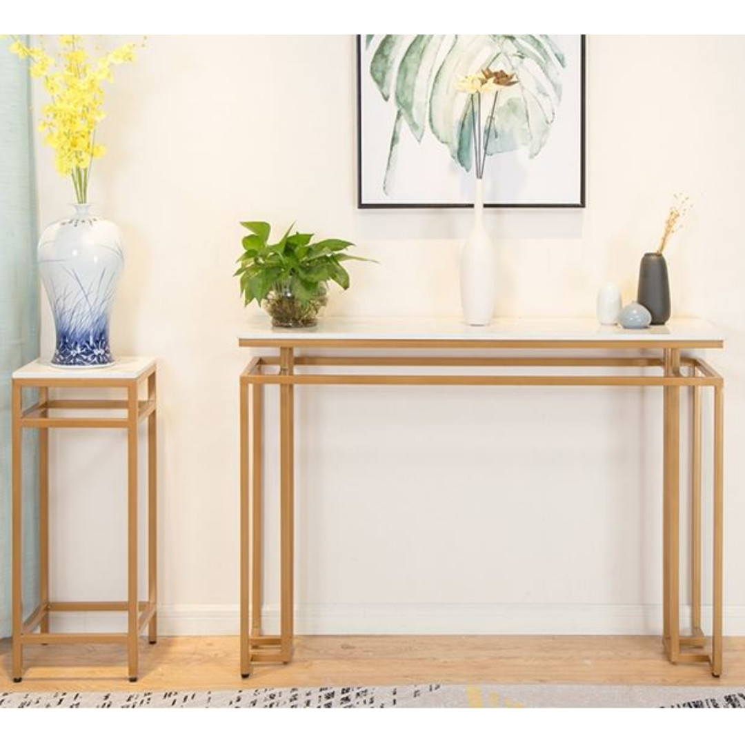 Modern Luxury Marble Console Table Furniture Tables Chairs On