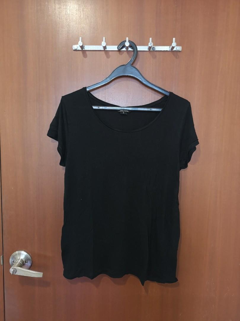 #SpringCleanAndCarouSell50 Monki Basic Balck T shirt blouse top