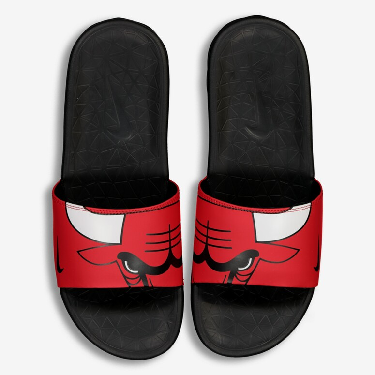 c3eb6763030 NIKE BENASSI SOLARSOFT NBA SLIDES RED WHITE BLACK
