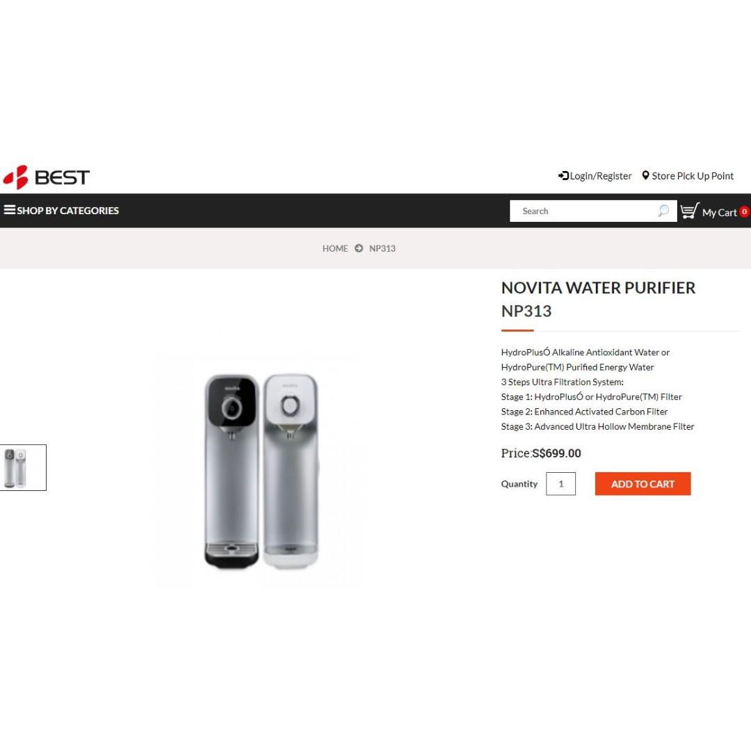 484e2da1ec Novita Water Purifier NP313 (no filter), Home Appliances ...