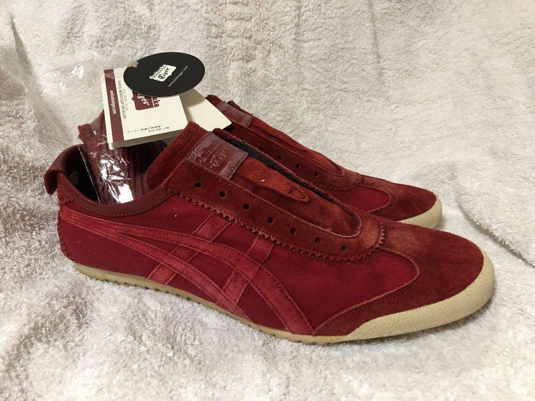 newest 71fae b1090 Original Onitsuka Tiger Mexico Slip-On Deluxe (Red)