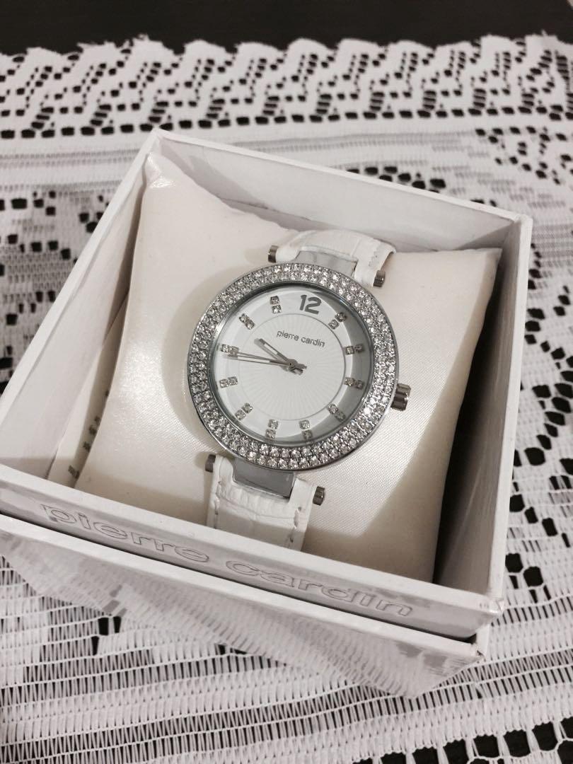 Pierre Cardin White Leather Watch