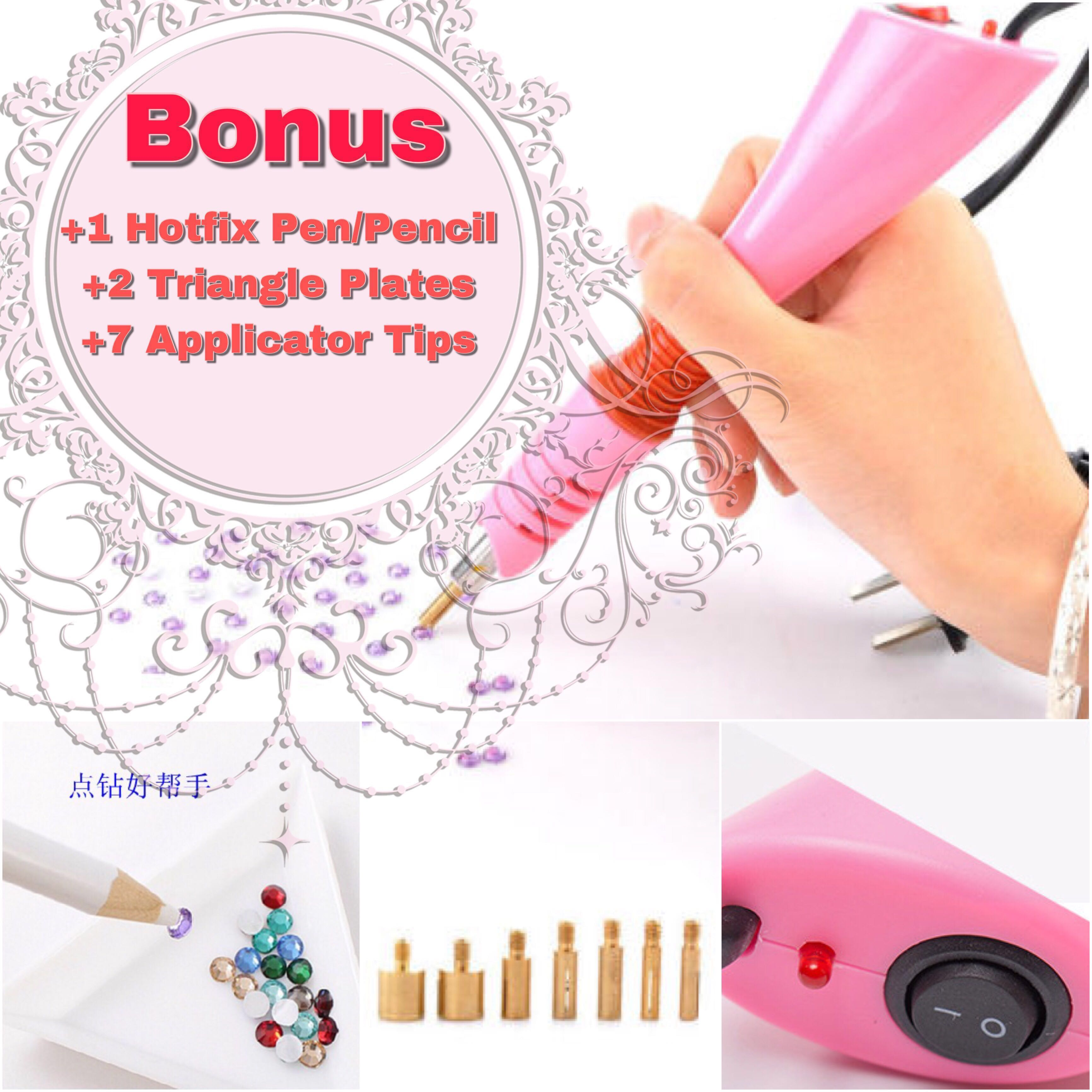 35d3bfa85a95 PO  Pink Purple DIY Rhinestone Crystal Hotfix Applicator Tool ...