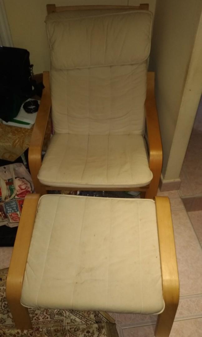 Strange Poang Ikea Armchair And Stool Ibusinesslaw Wood Chair Design Ideas Ibusinesslaworg