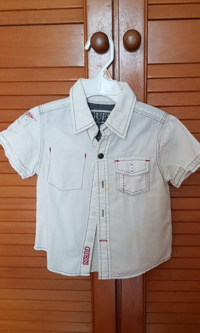 750aa937d17902 Preloved* Authentic Guess kids short-sleeved shirt, Babies & Kids ...