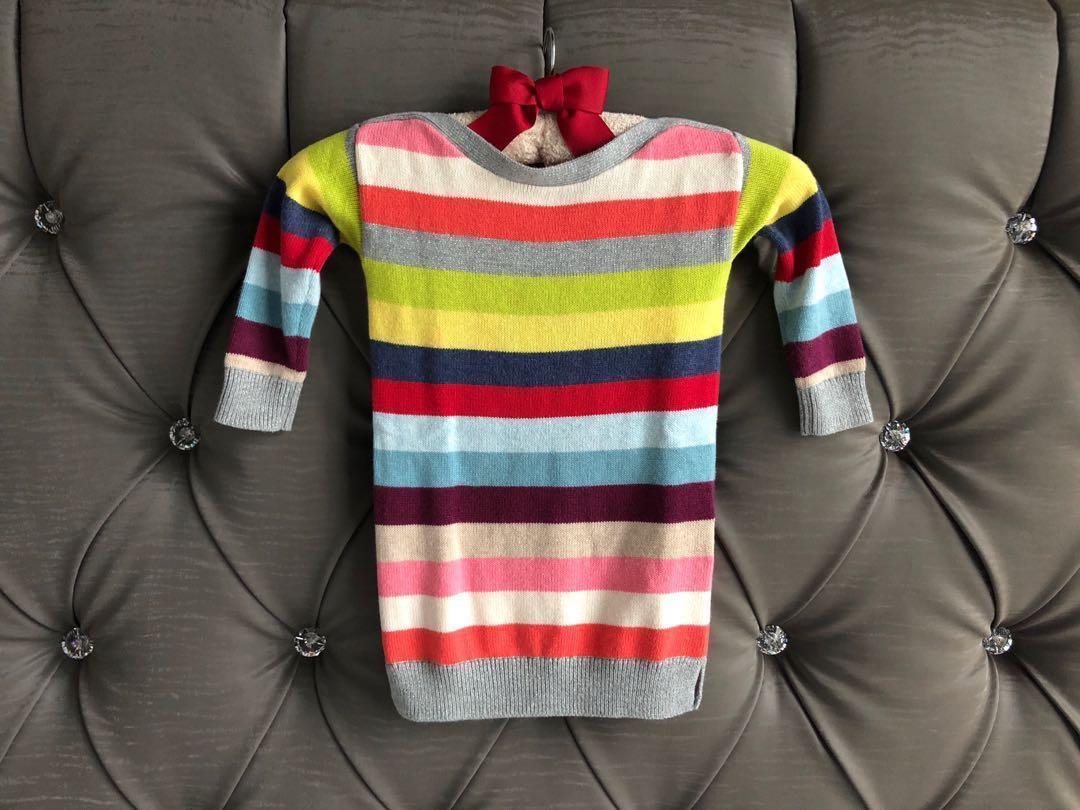 5dc0f8165f3 Preloved Gap 18-24M Stripe Sweater Dress for Baby Toddler Girl ...