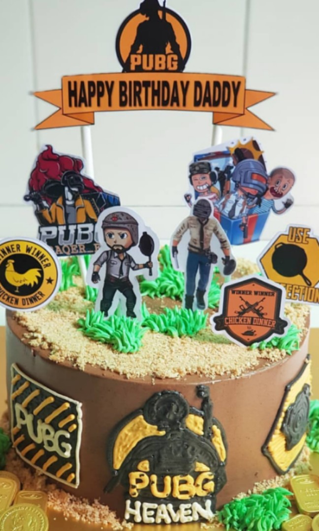 Pubg Cakes Food Drinks Baked Goods On Carousell
